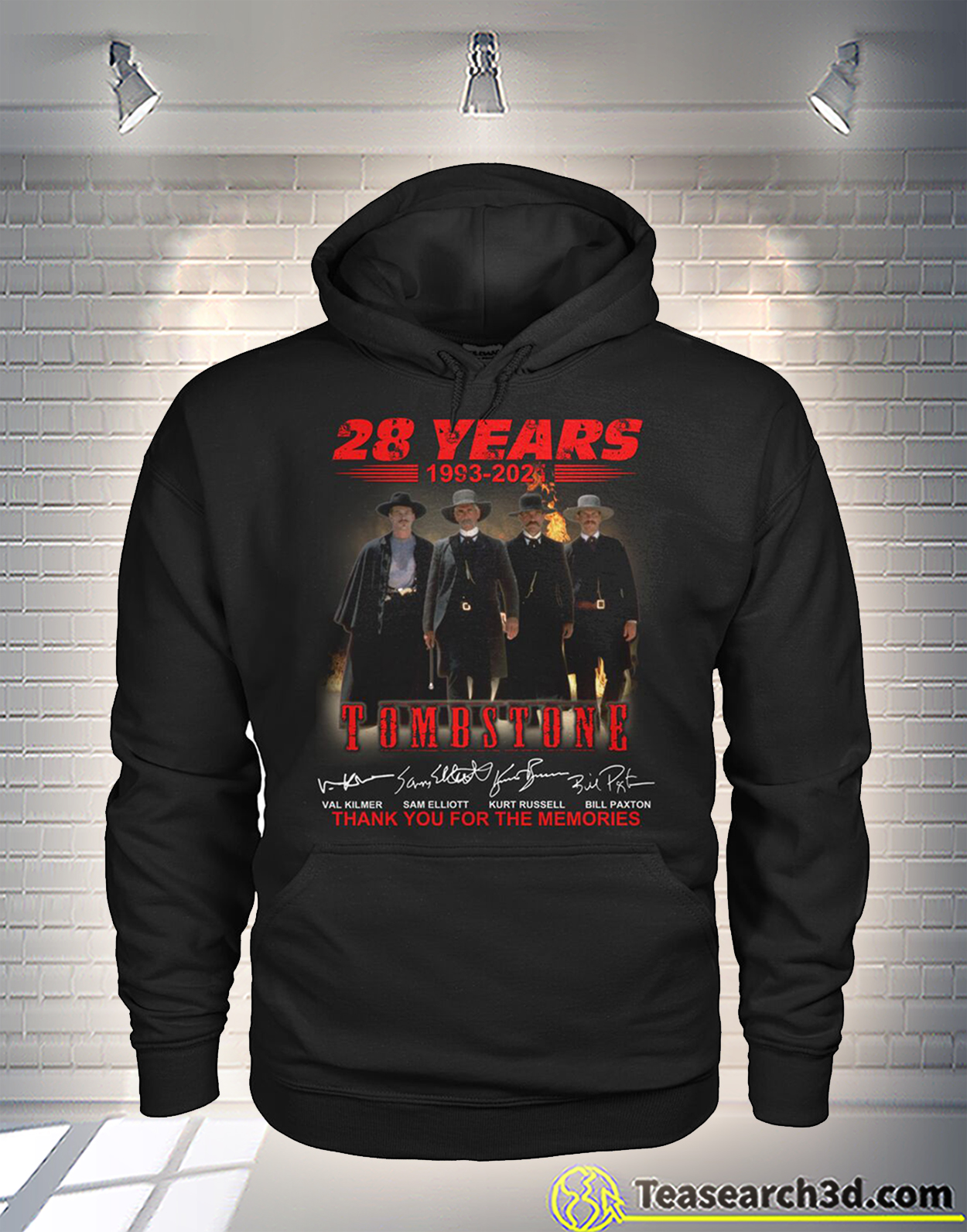 Tombstone 28 years thank you for the memories signature hoodie