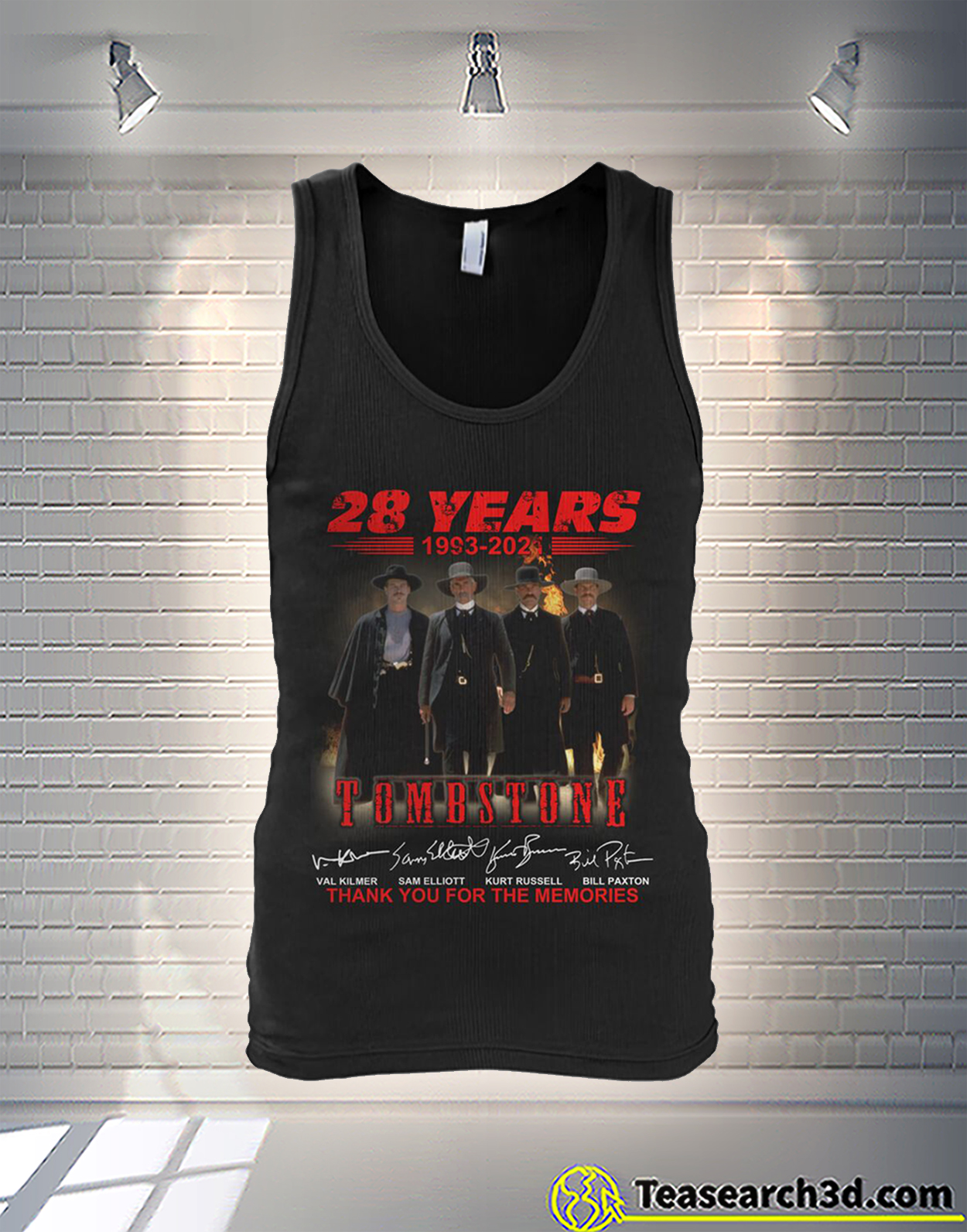 Tombstone 28 years thank you for the memories signature tank