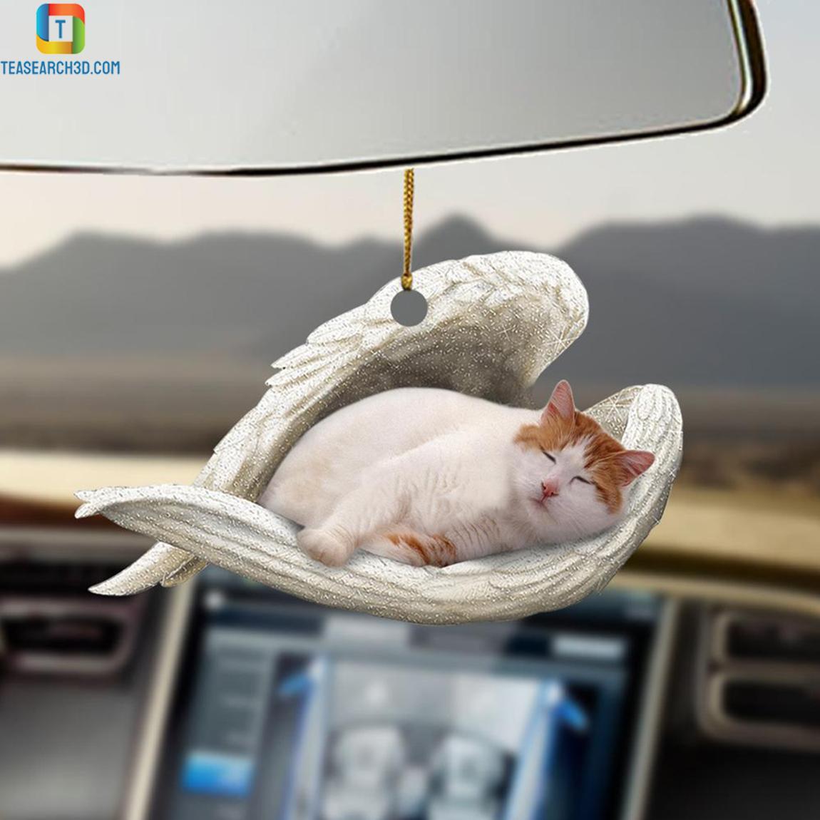 Turkish Van sleeping angel car hanging ornament 1