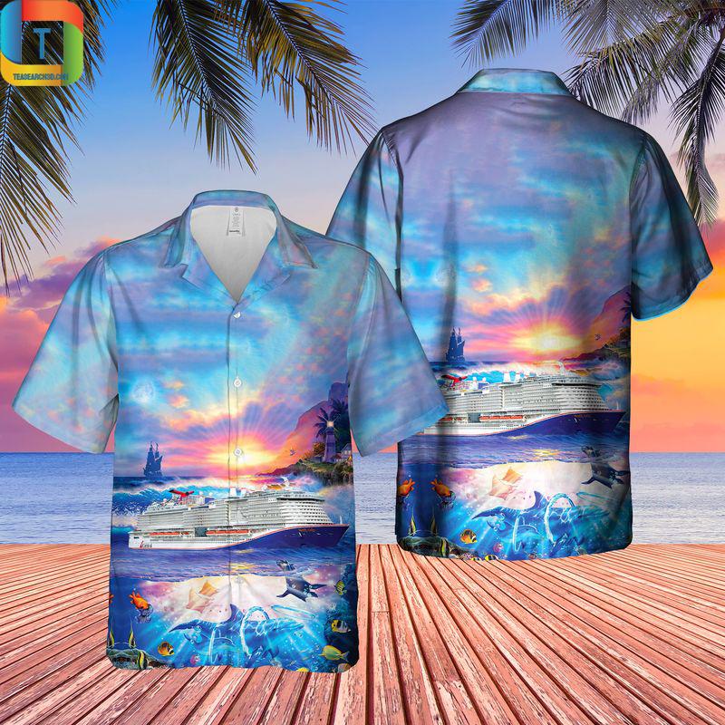 US Cruise Mardi Gras Ocean Life Hawaiian Shirt