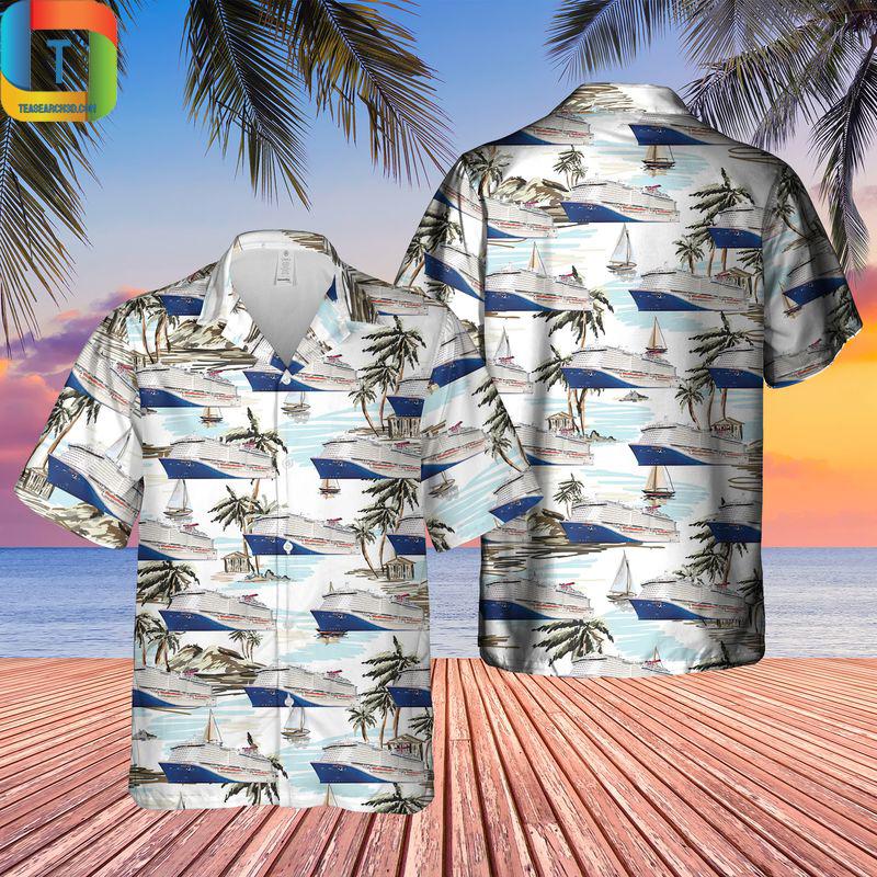 US Cruise Ship Mardi Gras Hawaiian Shirt