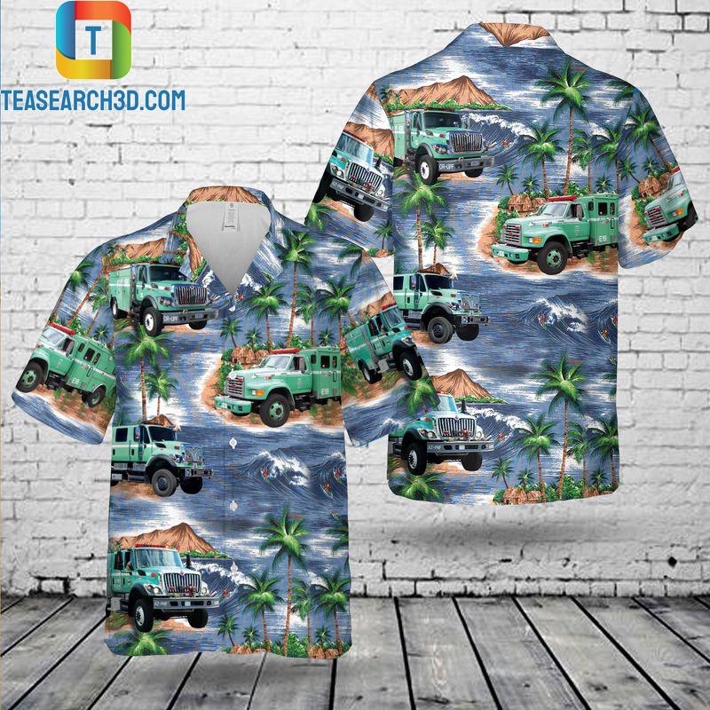 USFS engine hawaiian shirt