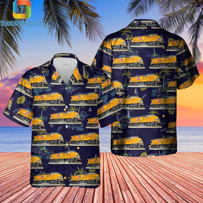 Union pacific legacy es44ac locomotive hawaiian shirt
