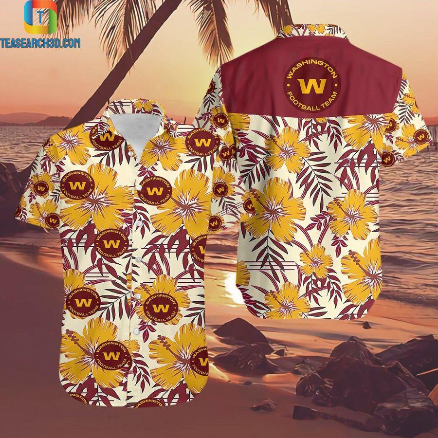 Washington football team nashville tennessee floral nfl football hawaiian shirt