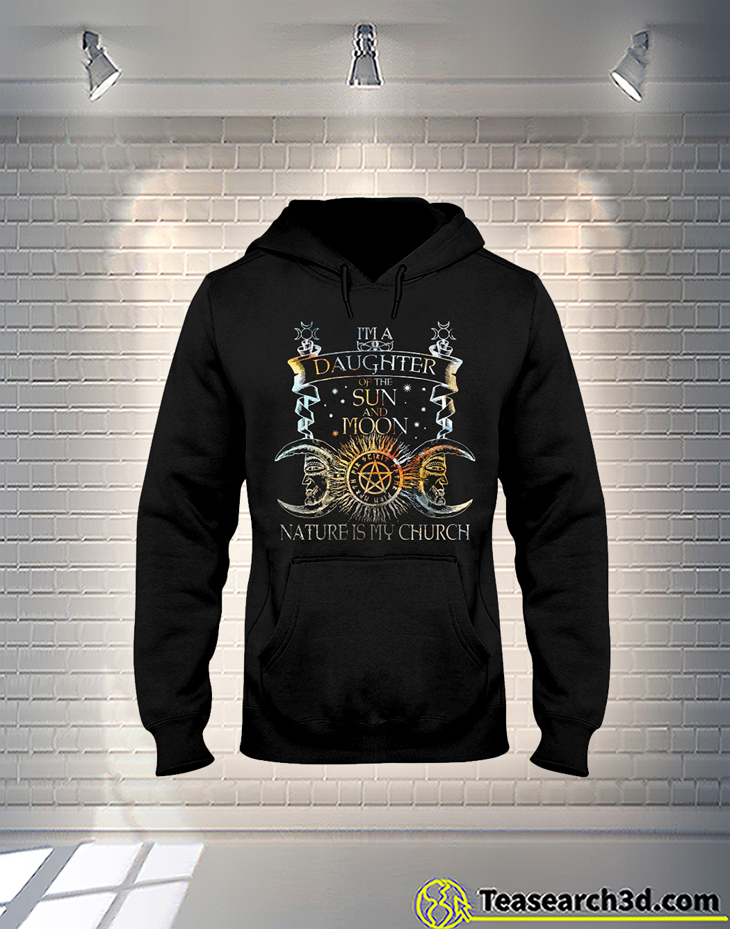 Witch I'm a daughter of the sun and moon nature is my church hoodie