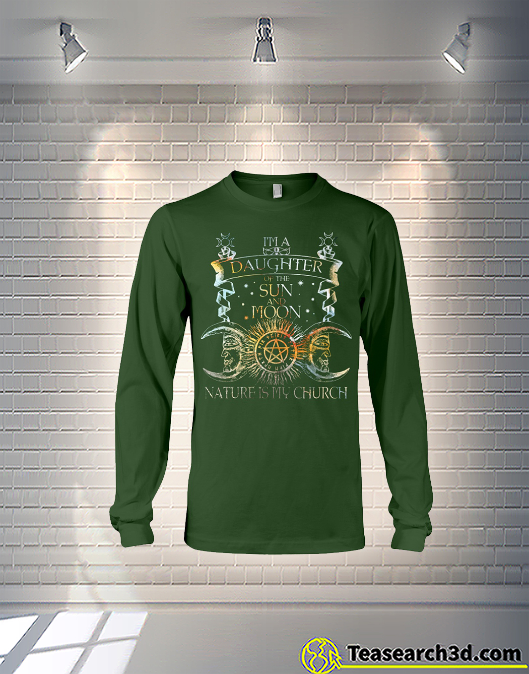 Witch I'm a daughter of the sun and moon nature is my church long sleeve