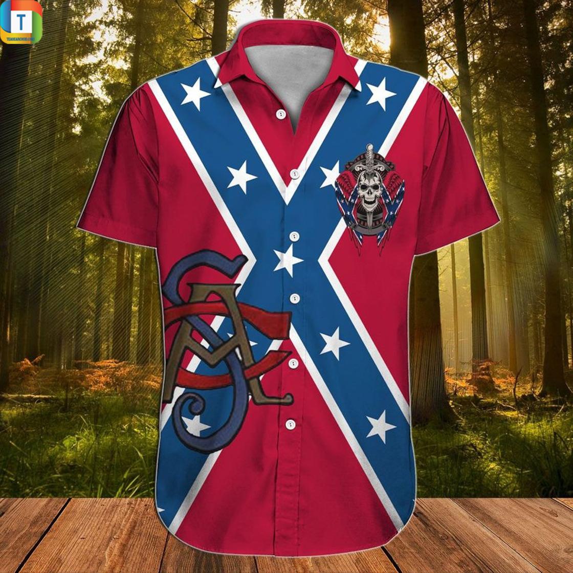 Proud descendant of a confederate soldier hawaiian shirt 2