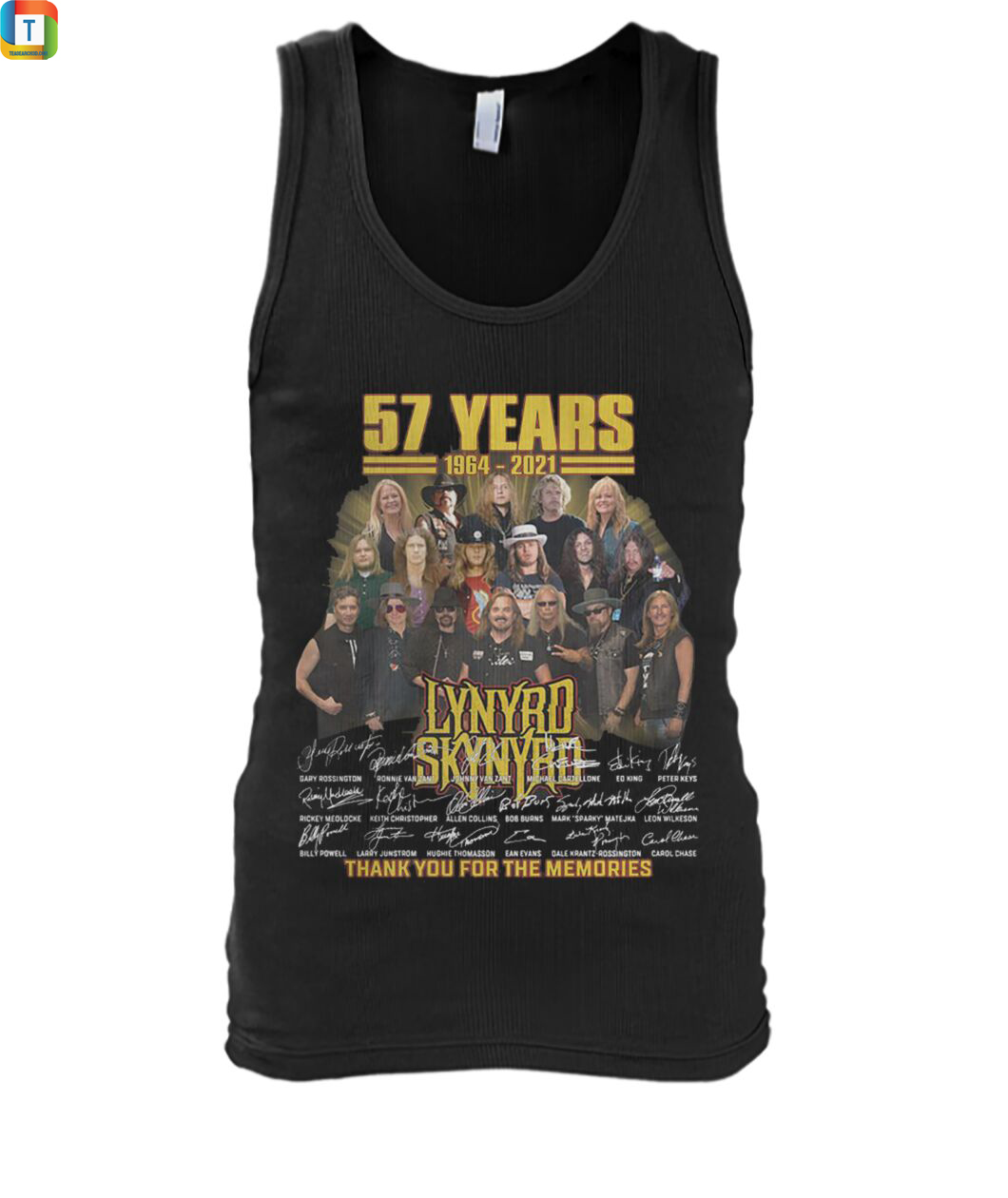 57 years Lynyrd Skynyrd thank you for the memories tank top