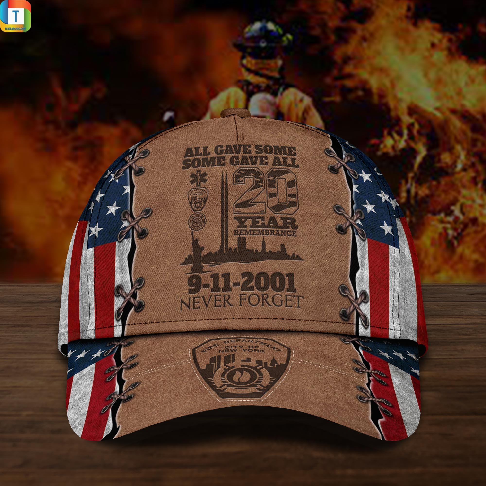 9-11 Memorial All Gave Some Some Gave All 20 Year 9-11 Memorial Custom Cap 2