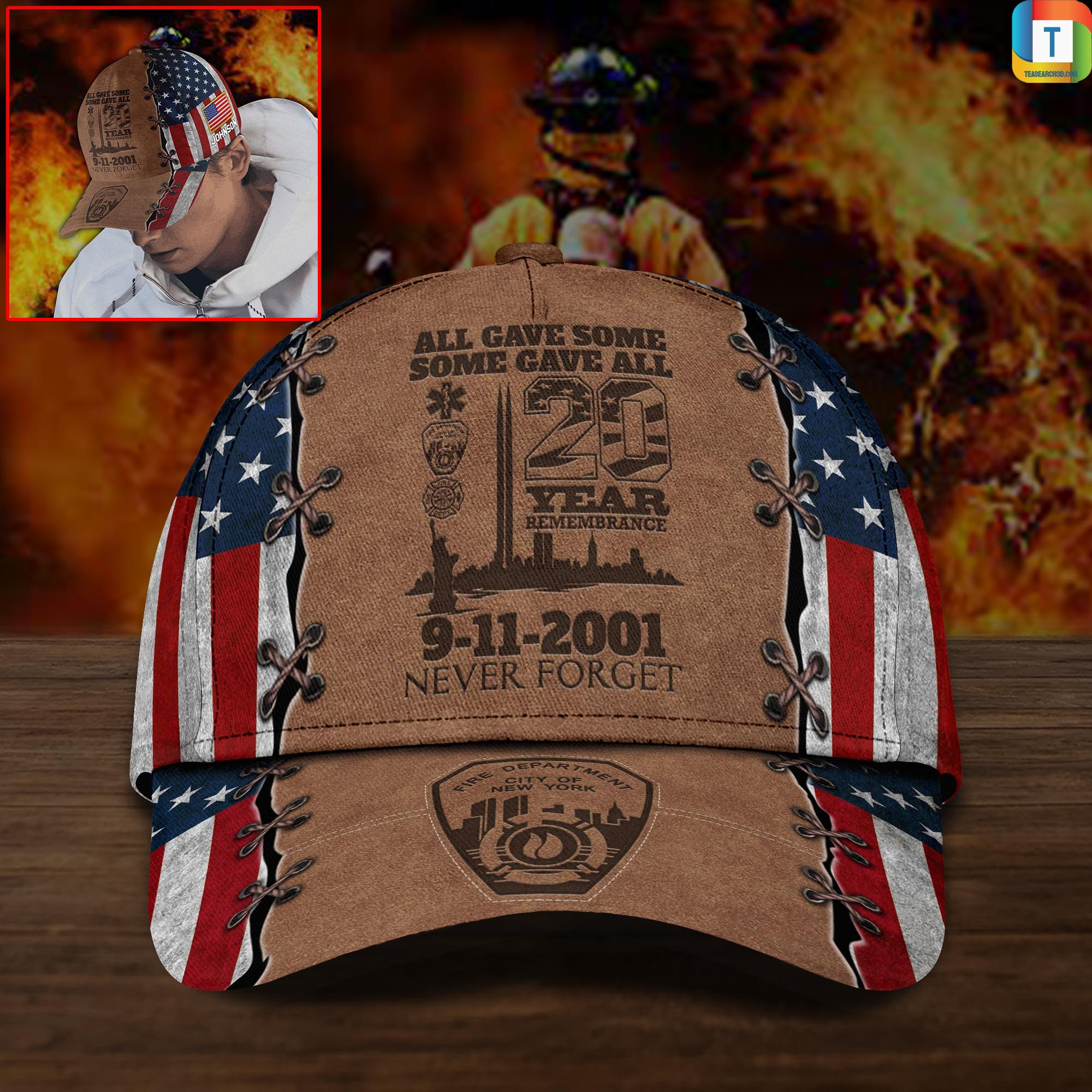 9-11 Memorial All Gave Some Some Gave All 20 Year 9-11 Memorial Custom Cap
