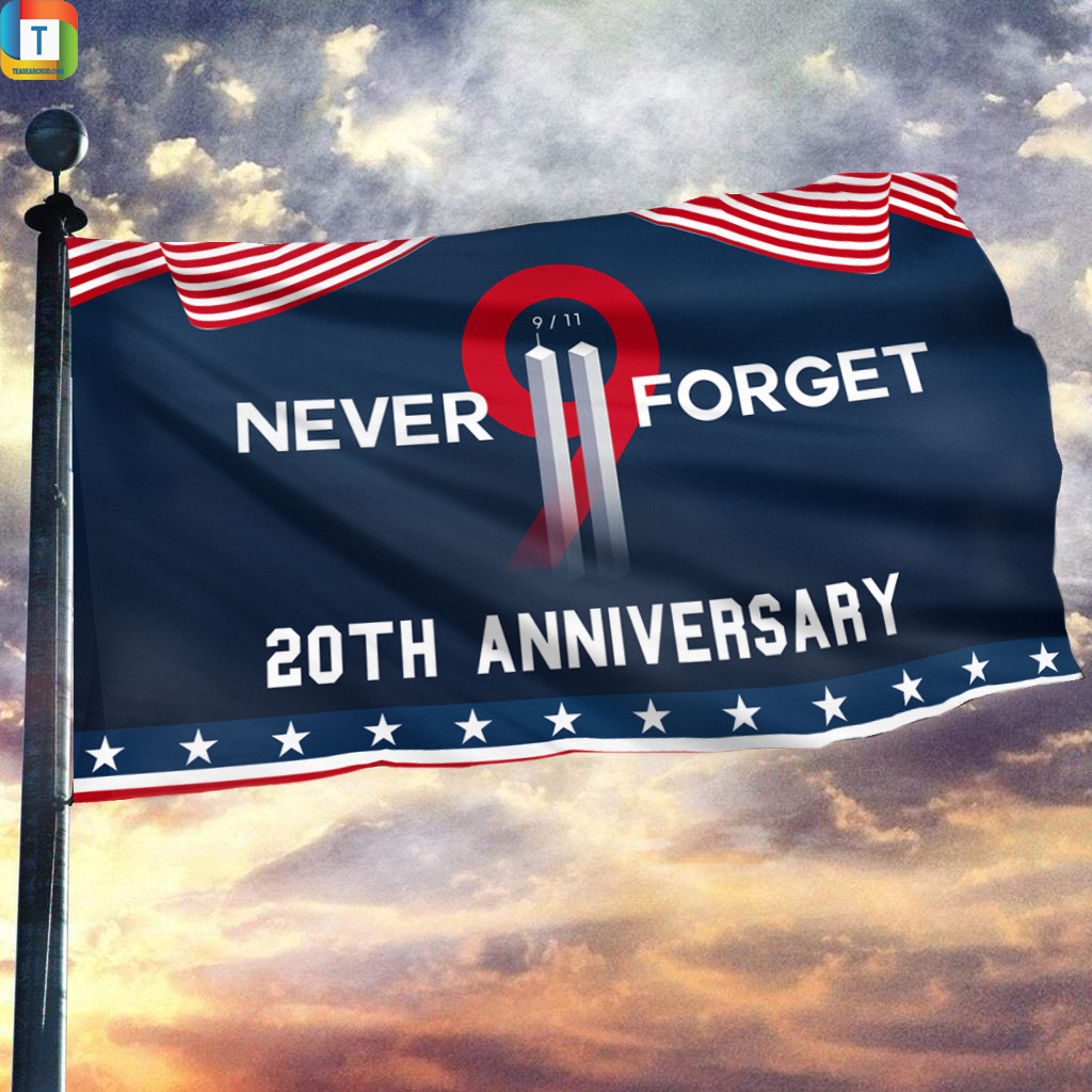 9-11 never forget 20th anniversary flag