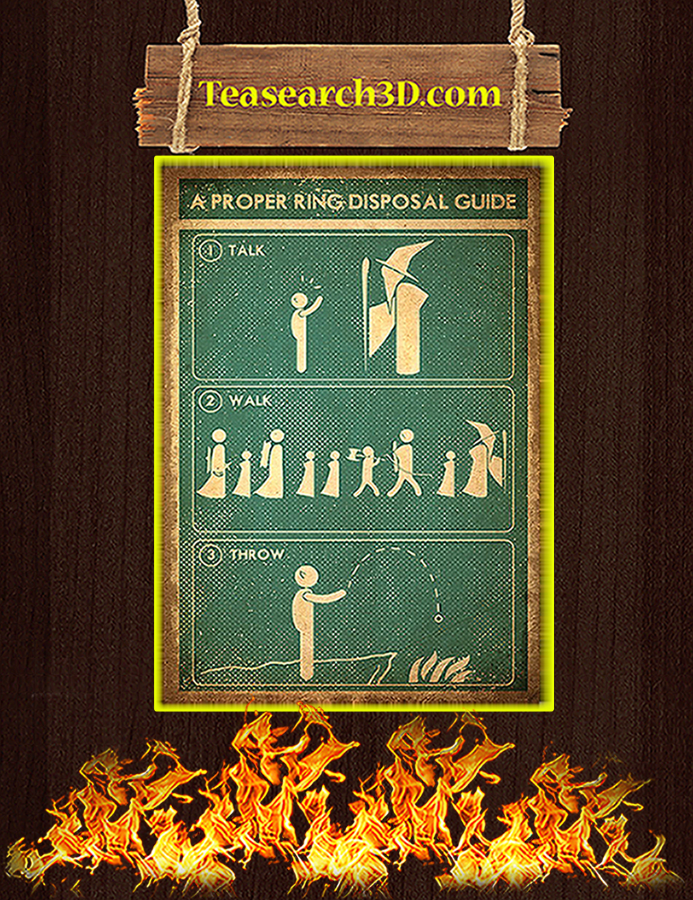 A proper ring disposal guide poster