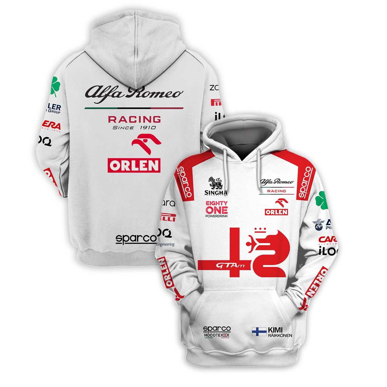 Alfa Romeo Racing Since 1910 Orlen Racing 3D Full Printing Hoodie