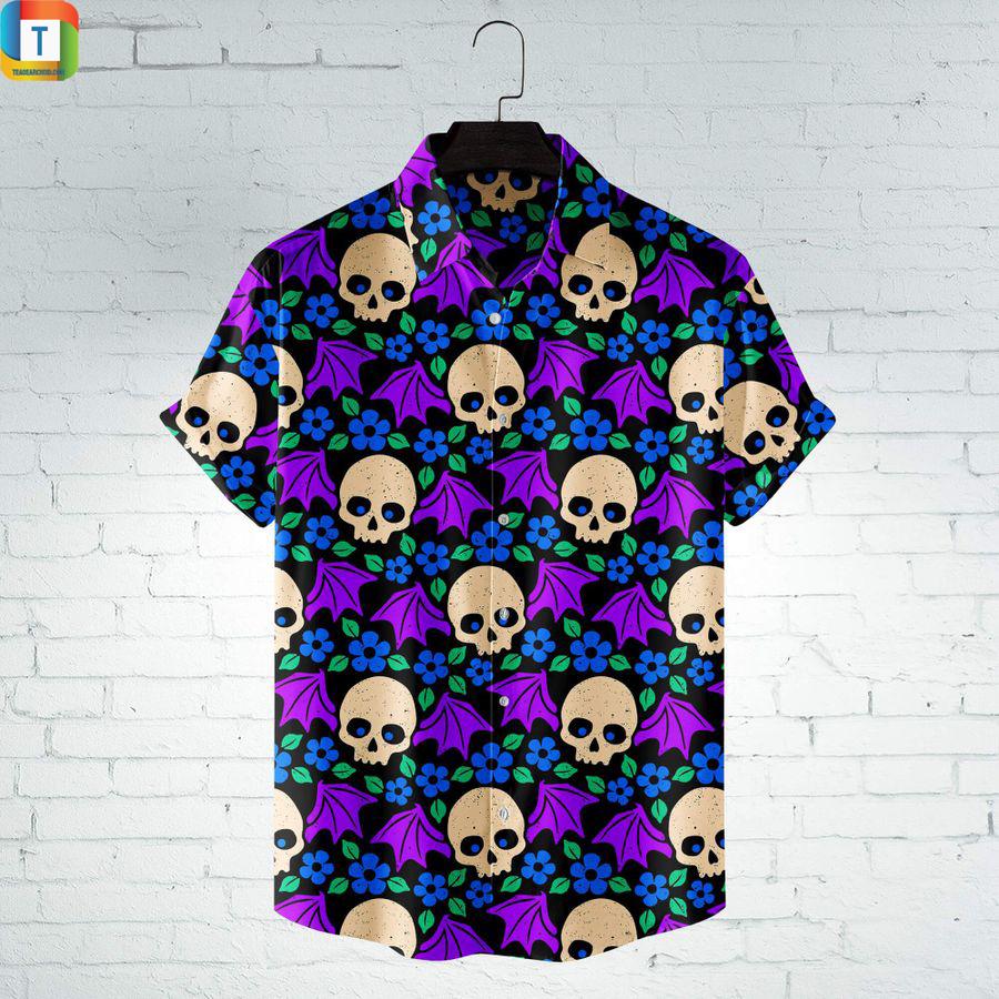 Bat Skull Hawaiian Shirt