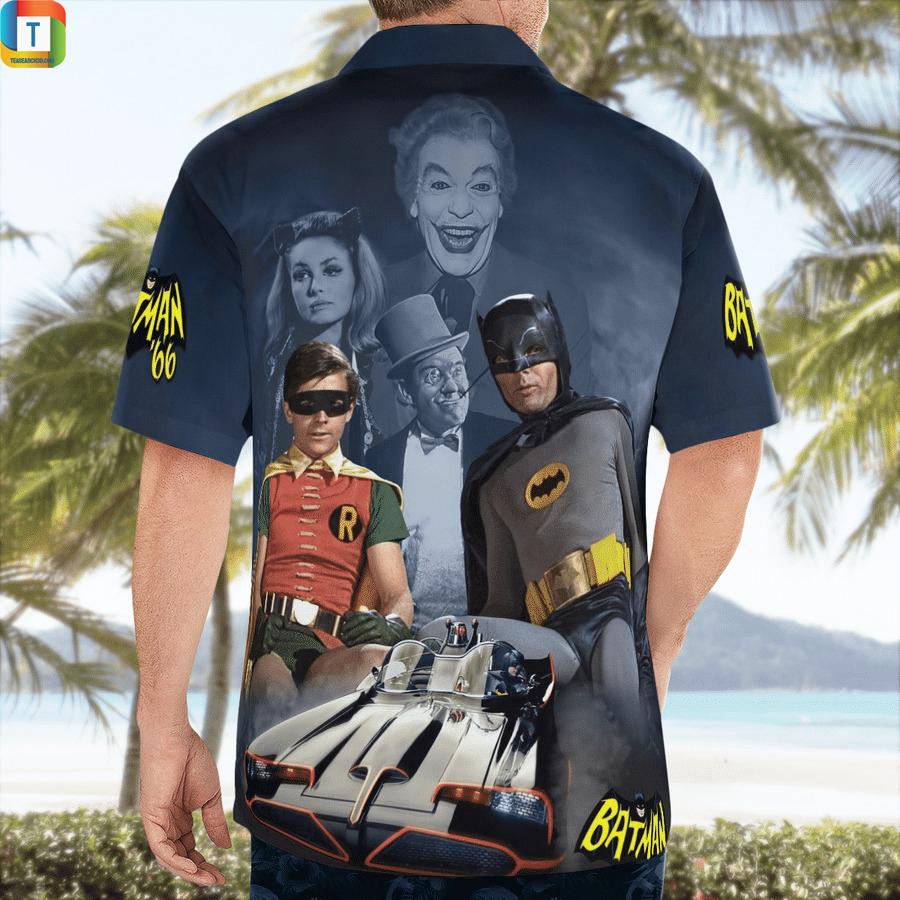 Batman and Robin 66 hawaiian shirt 2