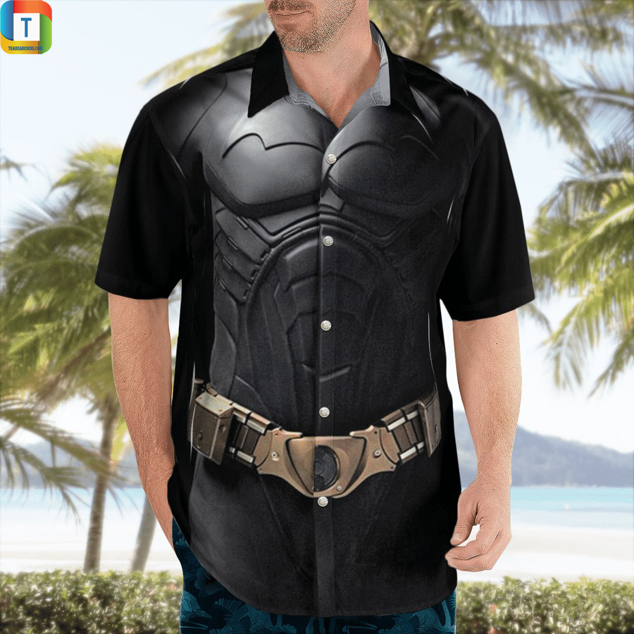 Batman black cosplay hawaiian shirt 1