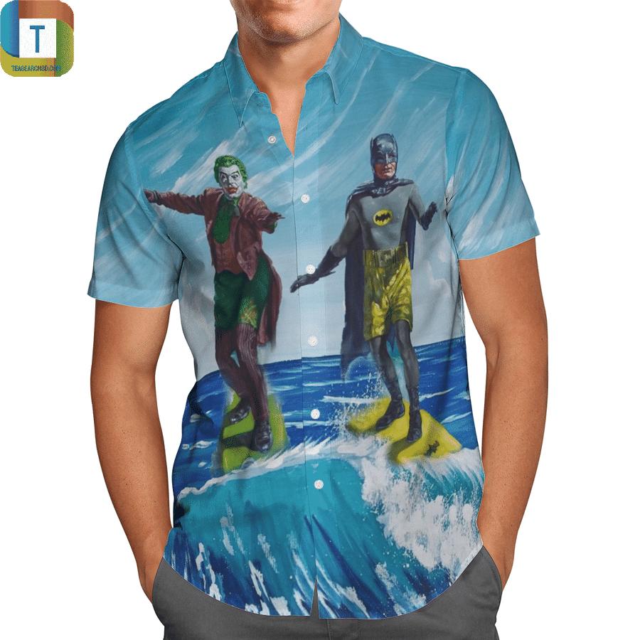 Batman surfing hawaiian shirt 1