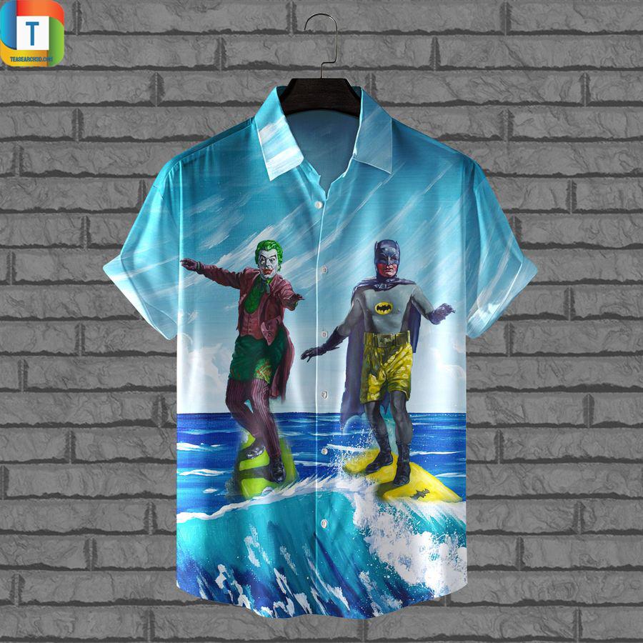 Batman surfing hawaiian shirt
