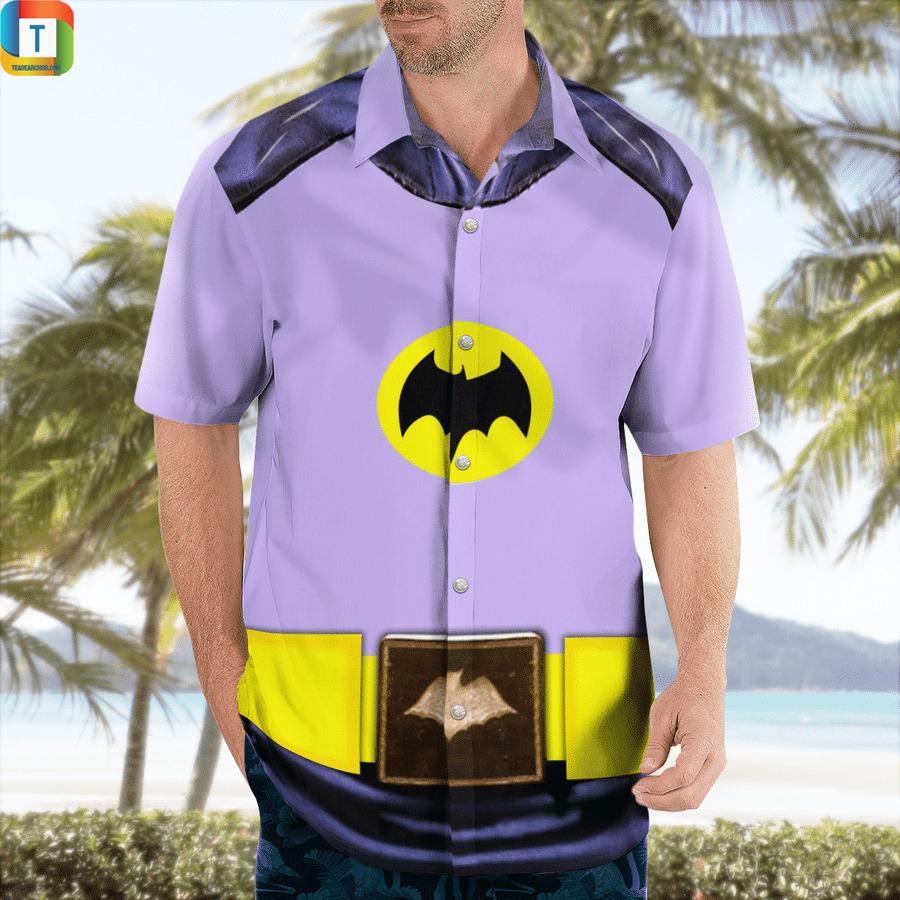Batman uniform 1966 cosplay hawaiian shirt 1