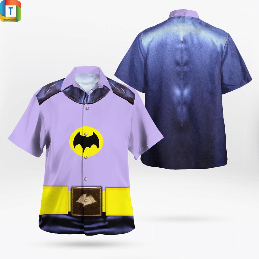 Batman uniform 1966 cosplay hawaiian shirt