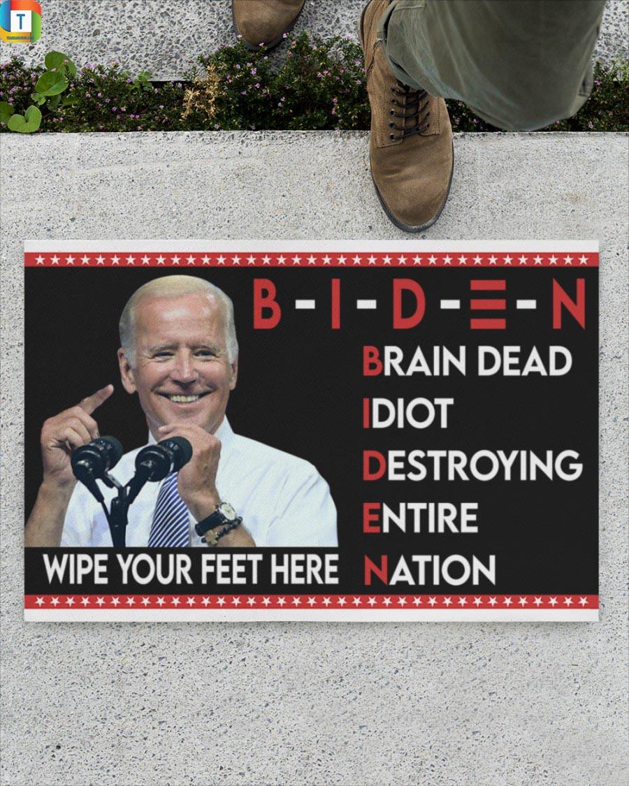 Biden brain dead idiot destroying entire nation doormat 1