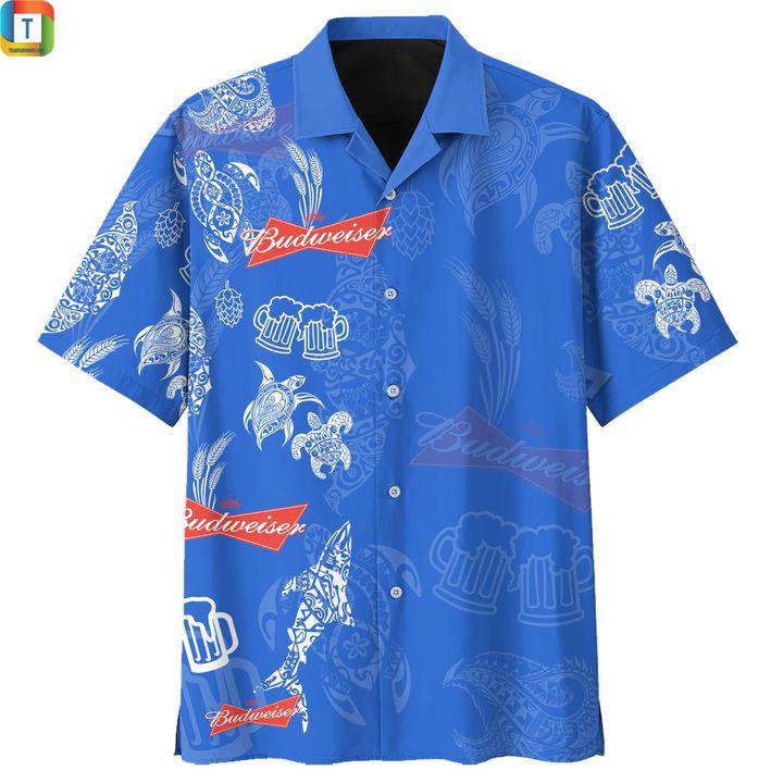 Budweiser hawaiian shirt 1