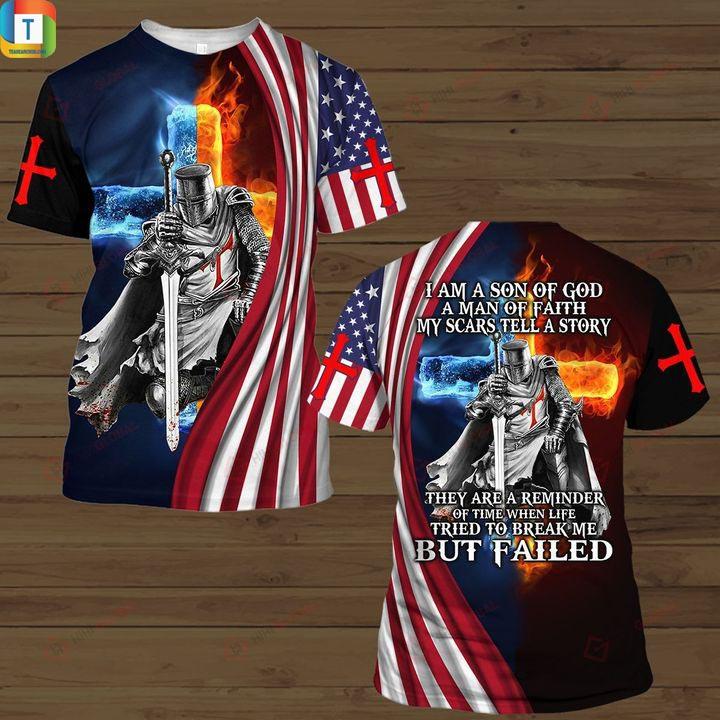 Christian Knight Jesus I am son of god hawaiian shirt and 3d hoodie 1