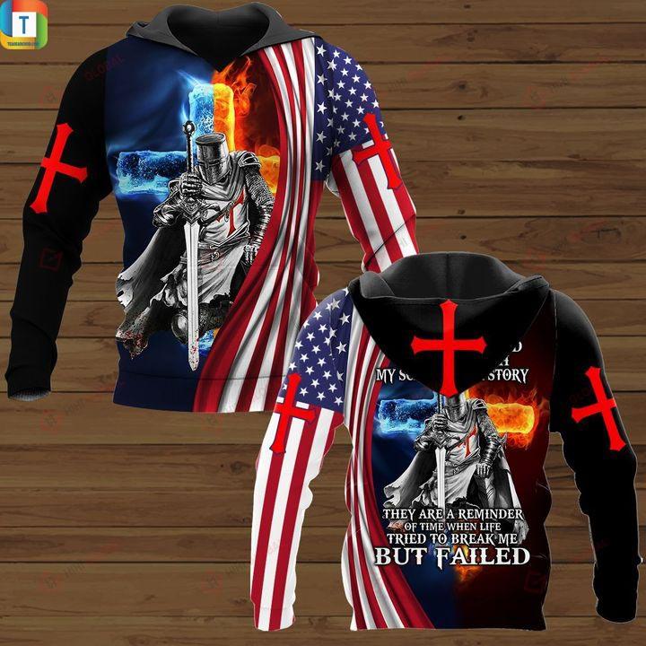 Christian Knight Jesus I am son of god hawaiian shirt and 3d hoodie 2