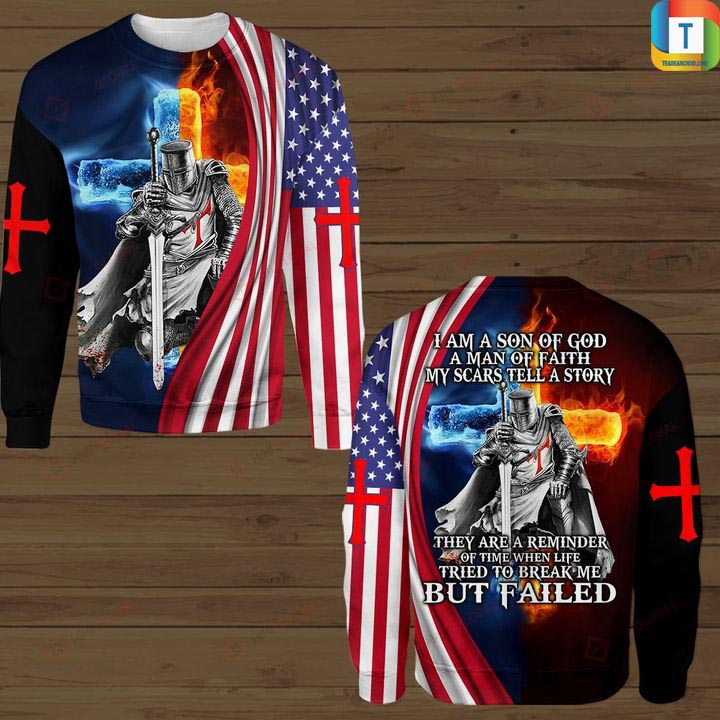 Christian Knight Jesus I am son of god hawaiian shirt and 3d hoodie 3