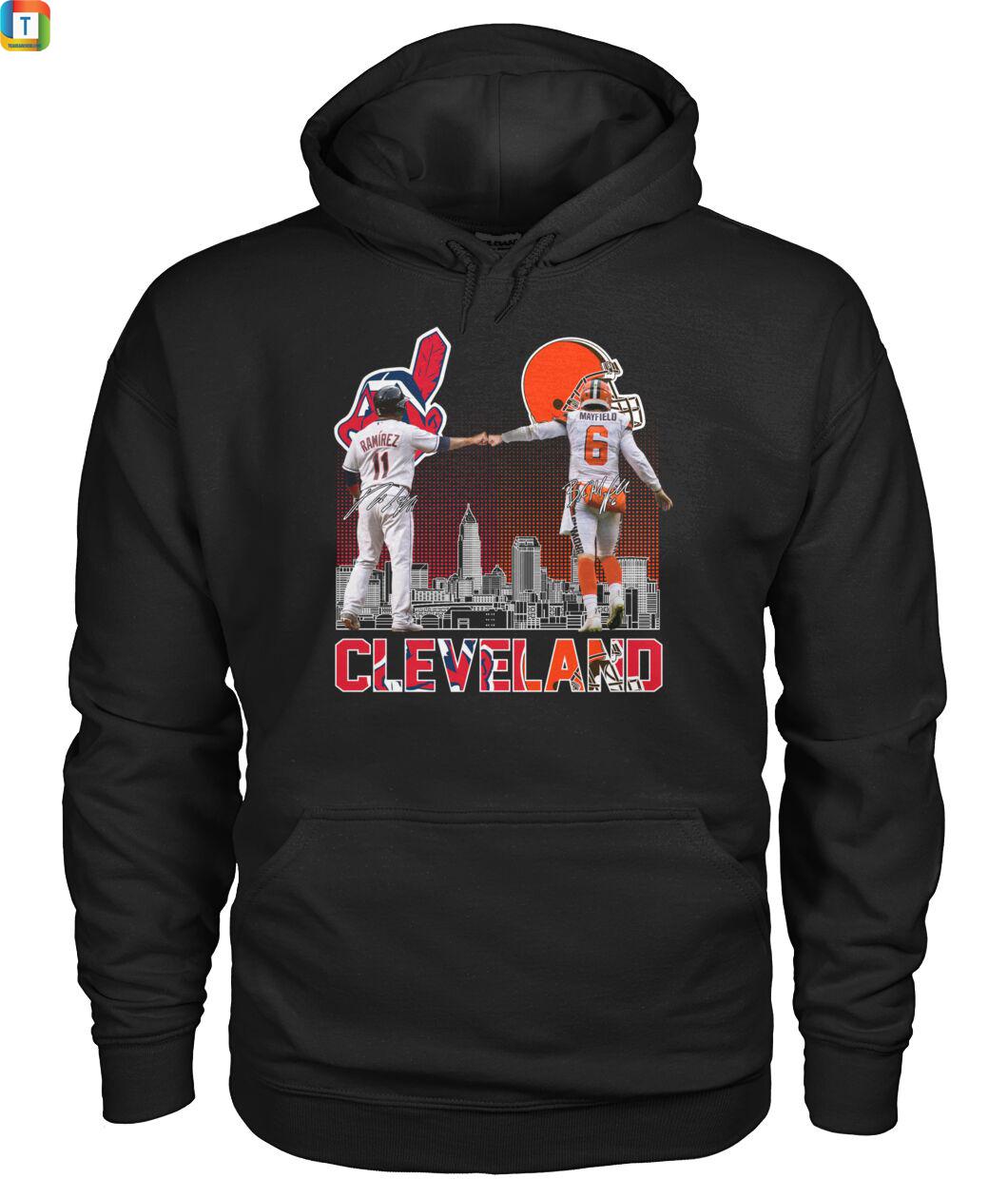 Cleveland José Ramirez And Baker Mayfield Signature hoodie