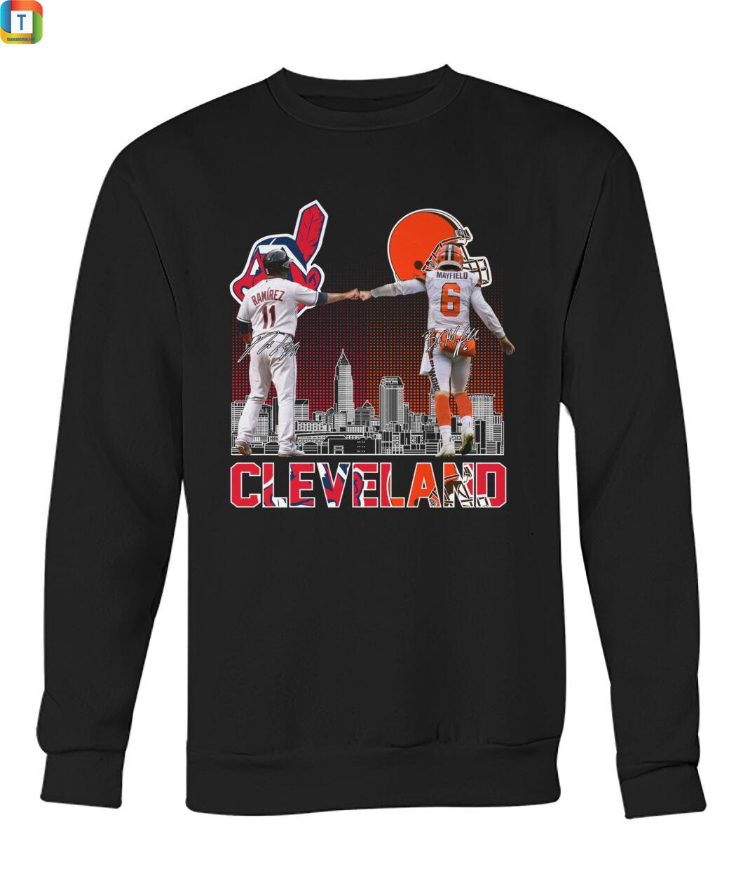 Cleveland José Ramirez And Baker Mayfield Signature sweatshirt