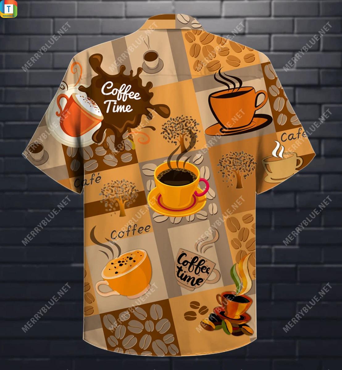 Coffee time makes life better hawaiian shirt 2