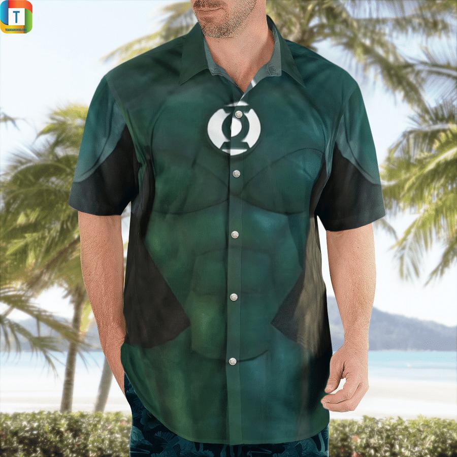 DC green lantern cosplay hawaiian shirt