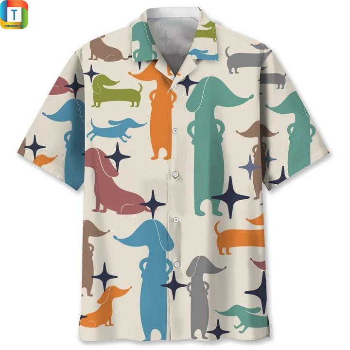 Dachshund Art hawaiian shirt