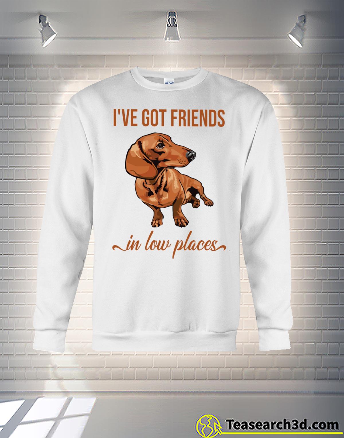Dachshund I've got friends in low places sweatshirt