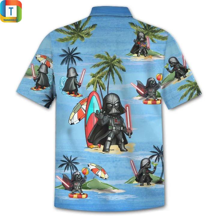 Darth vader star wars summer time hawaiian shirt 1