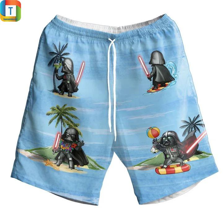 Darth vader star wars summer time hawaiian short