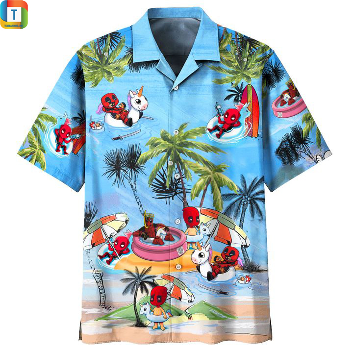 Deadpool summer beach hawaiian shirt 1