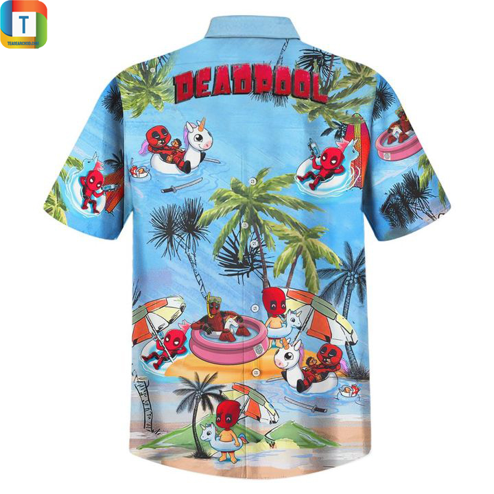 Deadpool summer beach hawaiian shirt 2
