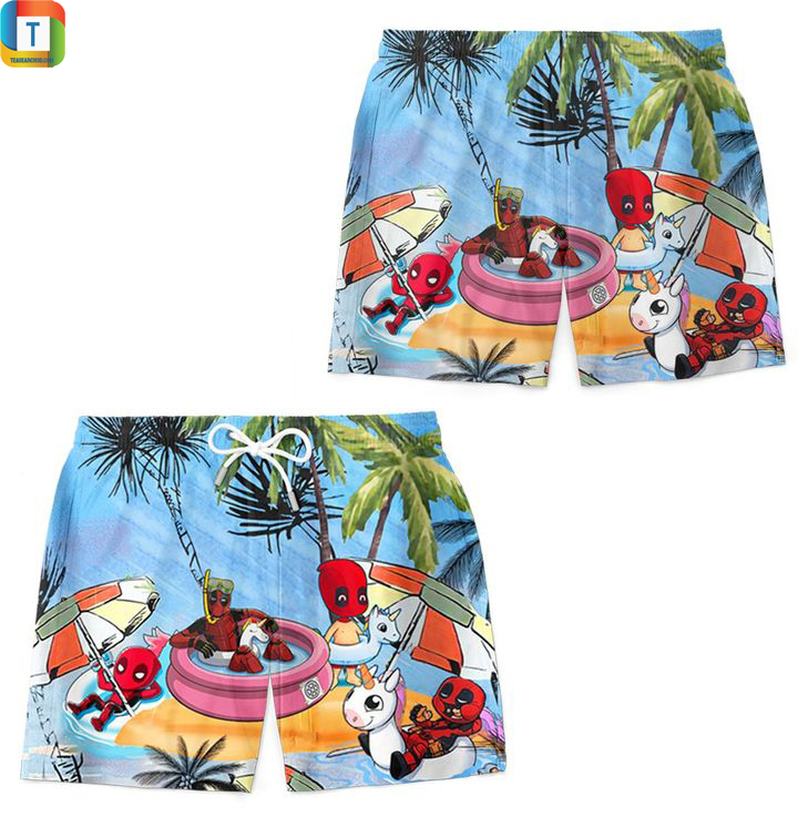 Deadpool summer beach hawaiian short