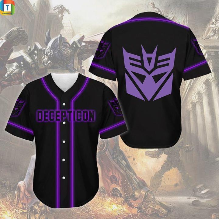 Decepticon transformer jersey shirt