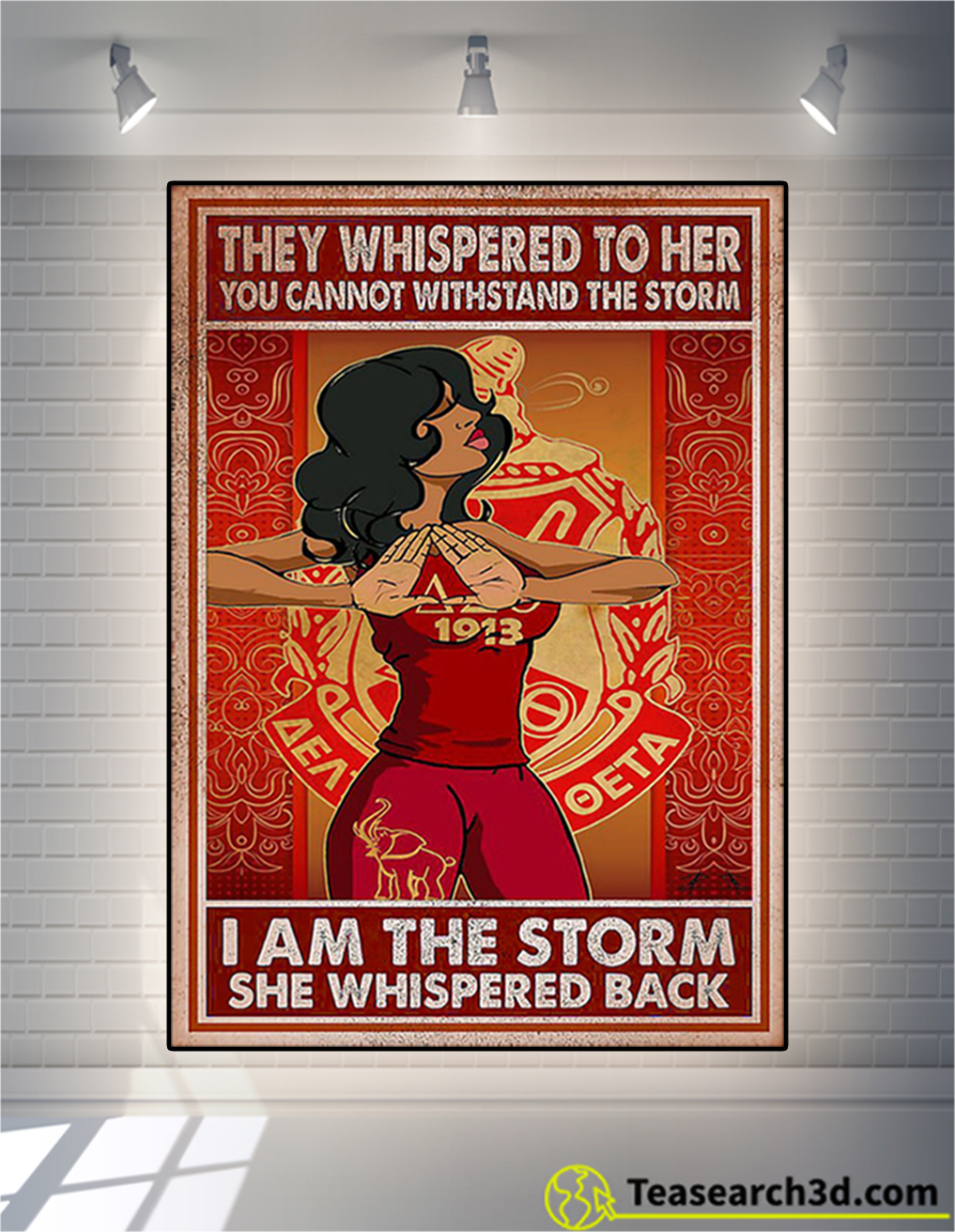 Delta girl they whispered to her you cannot withstand the storm poster