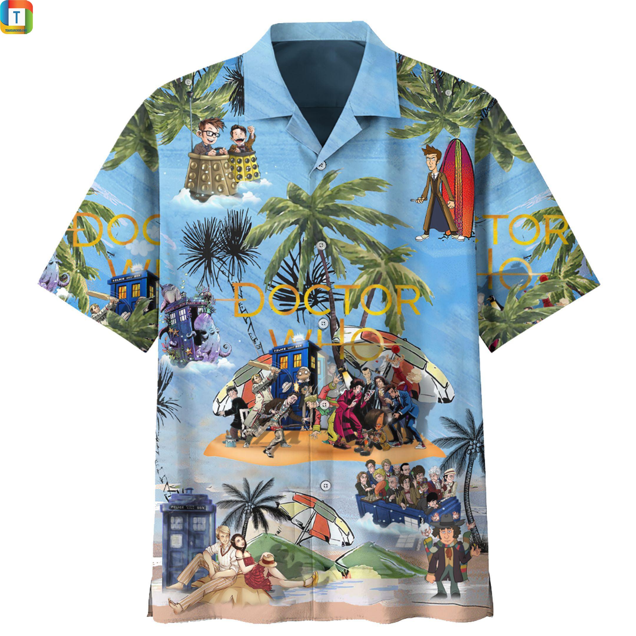 Doctor who hawaiian shirt 1