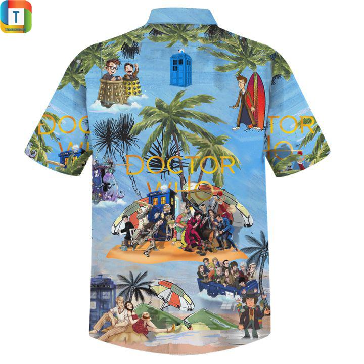 Doctor who hawaiian shirt 2