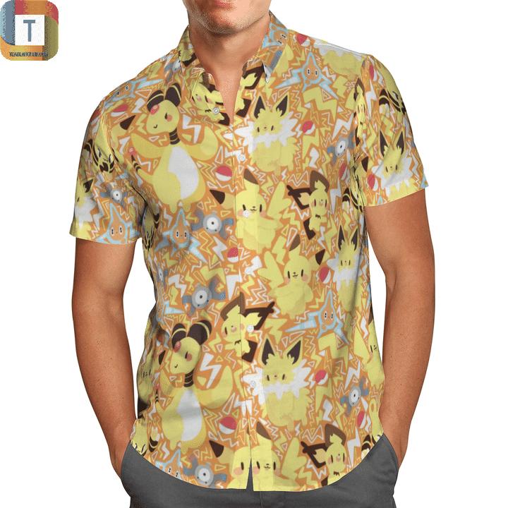 Electric type pokemon hawaiian shirt 1