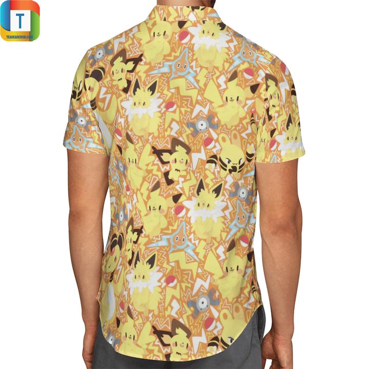 Electric type pokemon hawaiian shirt 2