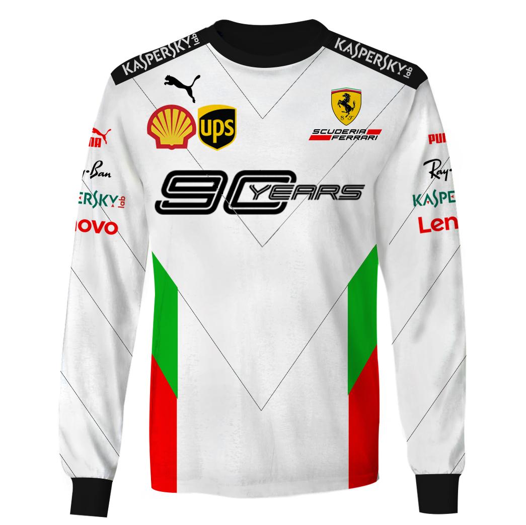 Ferrari 90 Years Racing 3D Full Printing long sleeve