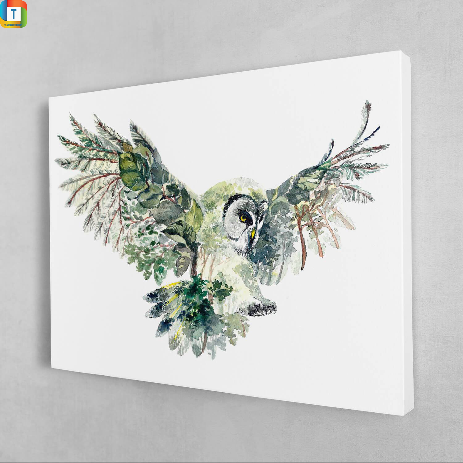 Forest owl canvas 1