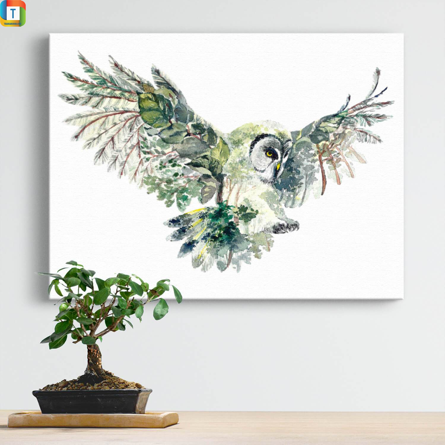 Forest owl canvas 2