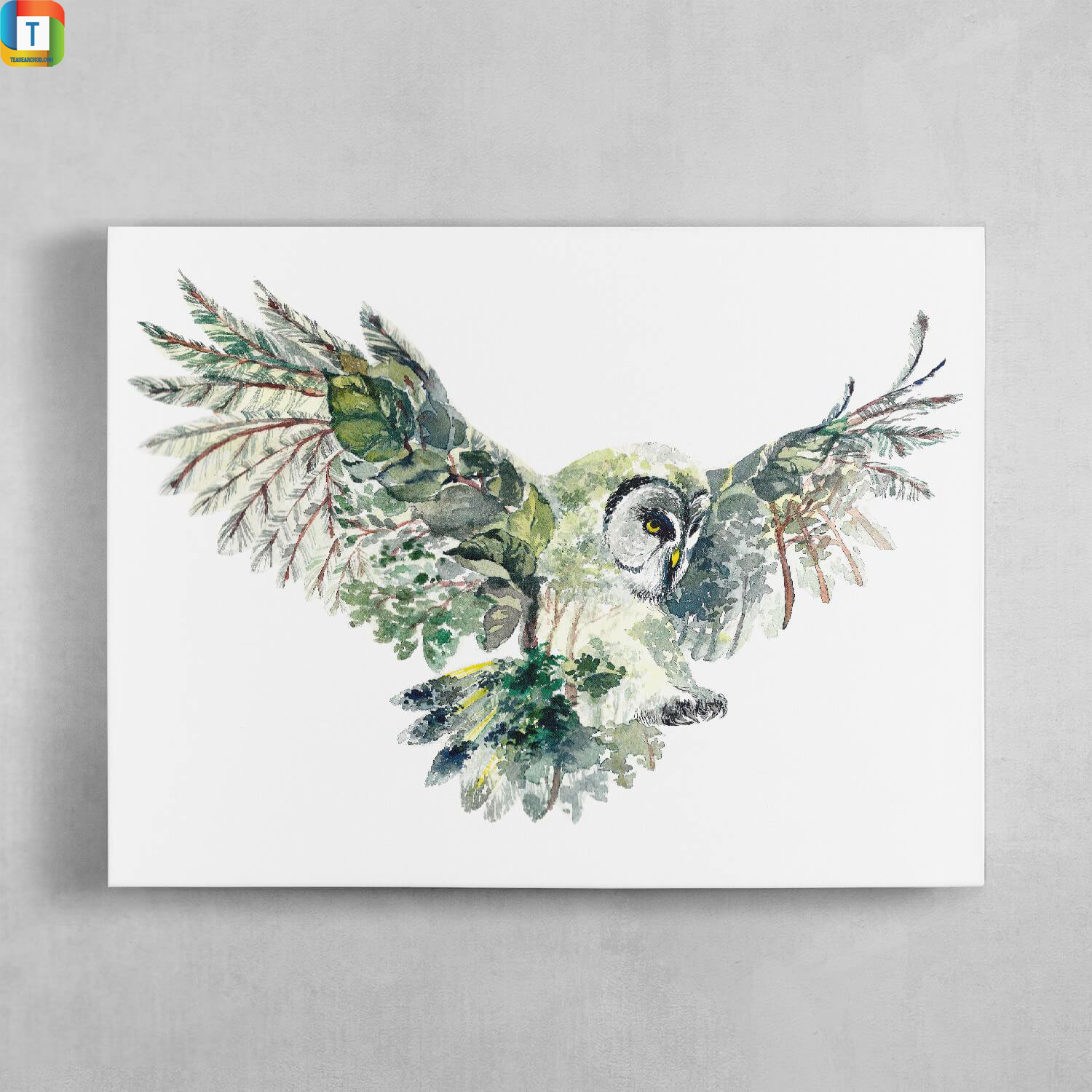 Forest owl canvas